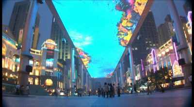 The Big Screen on Street in Beijing